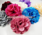 8cm Silk Satin Flower With Lace Corsages Brooch Pins Hair Clips Accessory