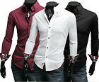 New Mens Slim Fit Stylish Dress Shirts 3 Colours  ZC08