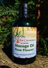 Massage Oil - Hemp & Jojoba - Rose or Frankincense - All Natural
