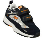 Skechers TENTS Infant Toddler Boys Athletic Sneaker Navy Silver Velcro Shoes