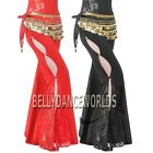 BELLY DANCE COSTUME RHINESTONE FLARE LACE PANTS 9 COLOR