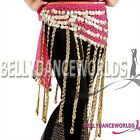 BELLY DANCE TRIBAL HIP SCARF WRAP SKIRT GOLD COIN 6 CLR