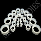V053 Double Flare Clear Silicone Squishy Saddle Plugs