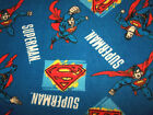 Superman Fleece Fabric Various Patterns and Sizes