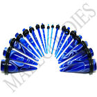 V058 Blue Marble Stretchers Tapers Expenders 00G Gauge