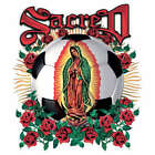 SACRED VIRGIN SOOCER MEXICAN SPANISH GIFT T-SHIRT WO