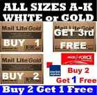 100 x Mail Lite White Gold  Padded Mail Postal Bags Size A - K