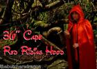 Little Dead Riding Hood Long Red Cape Hooded Fancy Dress Scary Tale Halloween UK