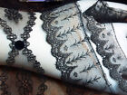 VINTAGE CHANTILLY VICTORIAN LACE 1900's Made in France (3 styles) BLACK 1yard