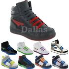 BOYS GIRLS ANKLE HI HIGH TOPS SKATE TRAINERS BASEBALL SCHOOL DANCE SHOES SIZE