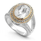 925 Sterling Silver Ring Clear Cubic Zirconia  Stone  CZ  Sz. 6 to 9