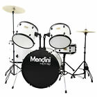 Mendini 5 Pcs Complete Drum Set +Cymbal+Throne~Black Blue Green Red Silver White