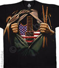 NEW Music Music in Me Drums Guitar Skeleton Rock Skull Concert Shirt M  L XL 2X