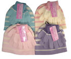 New Girls Magic Striped Hat & Glove Set Assorted Colours Winter Warm BNWT