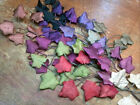 VINTAGE MILLINERY Silk Maple LEAVES 1940's Made in Japan Hand Wrapped