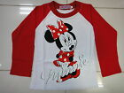BNWT Minnie Girls Long Sleeve T-shirt Tee Size 1,2,3,4,5,6