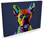 French Bulldog, Pop Art Print, Box CANVAS A3 to A1 -v417
