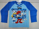 BNWT The Smurfs Boys Long Sleeve T-shirt Tee Size 3,4,5,6,7