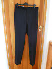 MARKS AND SPENCERS AUTOGRAPH BLACK WOOL RICH WOOLMARK SUIT TROUSERS 30 32 40 35L