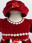 Baby Toddler Girl Pageant Christmas Holiday Party Birthday Dress RED sz 6 12 18M