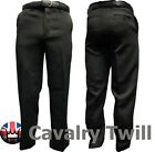 "Brand New Mens Cavalry Twill Trousers All Sizes Black 29"" & 31"" inside leg"
