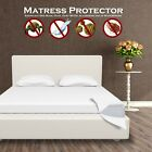 Waterproof Mattress Protector Encasement - Zippered - Anti Bed Bug And Dust Mite image