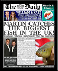 Personalised Fishing Themed Newspaper Gift
