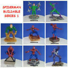 8 NEW MARVEL SPIDERMAN BUILDABLE SET #1 MINI FIGURE CUP CAKE TOPPER YOU PICK ONE