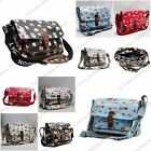 AUTHENTIC LYDC Oilcloth Cupcake Ladies Saddle Cross Body Messenger Bag