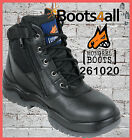 New Mongrel Work Boots ZIP UP Black Steel Toe Cap/Safety Lace-Up Low Cut 261020