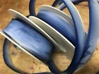 "VINTAGE FRENCH RIBBON OMBRE 5/8"" or 7/8"" 1yd Light Blue to Royal Made in France"