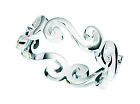 Sterling Silver 5mm Scroll Ring (sizes K - U available) 3.10 grams