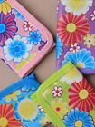 Floral Print Wallet/ Purse for Girls/ Kids in Pink, Purple, Surf Style Flapover