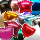 Solid COLOUR Round Star Heart Shape Wedding Party Foil Balloons In One Listing