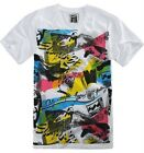 Billabong Surfer Pump Mens White V-Neck T-Shirt NWT New