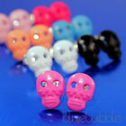 FUNKY MEXICAN SUGAR SKULL EARRINGS GOTHIC SKELETON HEAD PIRATE ROCK KITSCH HEART