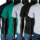 Mens new crewneck solid casual basic Elastic T-shirts Size S/M/L/XL (TP_001)
