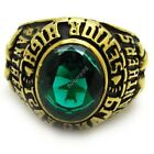 boy's green CZ panthers men's royal gold brass ring 316L Stainless Steel