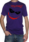 fm10 t-shirt uomo JOKER Why So Serious ? Batman CINEMA&TV