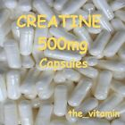 "Creatine 500mg Capsules   Special Offer !! ""Buy 1  Get 1 Free"" !! (same size)"