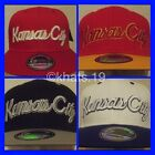 BRAND NEW FLAT PEAK VINTAGE KANSAS CITY SNAPBACK BASEBALL CAP WITH TAGS