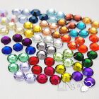 Flatback Round Faceted Rhinestone Scrapbooking DIY Craft Decoration FREE S/H