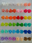 ♥ Small Vintage Style Rose Studs Earrings Flower Jewellery 26 Colours Sealed ♥