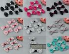 30 X Handmade Fabric Swiss Dot Butterfly Bow Ties Appliques For Sewing Craft