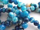 OPTIONS FROM 99p BLUE ROUND AGATE GEMSTONE BEADS SELECT SIZE & QUANTITY