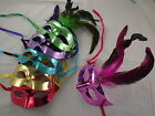 Coloured Venetian Fancy Dress Feather Masquerade Party Mask fifty 50 Shades