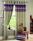 HEAVY HARVARD CURTAINS AUBERGINE RING TOP EYELET PAIR.SAVE 40%.NEXT DAY DELIVERY
