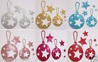 FABRIC SEQUIN XMAS TREE BAUBLE BALL IRON-ON CRAFT TSHIRT TRANSFER PATCH APPLIQUE