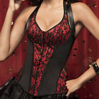 Fashion Women's Halter Vintage Corset Bustier Lingerie Overbust holiday Costume