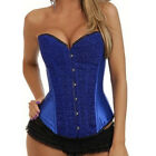 Freeship New NWT Sexy Satin Vintage Corset Bustier + G-String 5Size S/M/L/XL/XXL